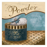 Bath Accessories I - Blue Powder Giclee Print by Gregory Gorham
