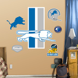 Detroit Lions Classic Logo Wall Decal