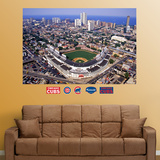 Chicago Cubs Wrigley Field Aerial Stadium Mural   Wall Decal