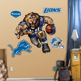 Detroit Lions Die Cut RB Liquid Blue Wall Decal