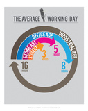 The Average Working day Posters by Stephen Wildish