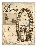 Paris Collage III - Ferris Wheel Giclee Print by Gregory Gorham