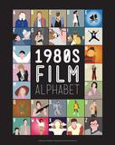 1980s Film Alphabet - A to Z Poster von Stephen Wildish