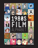 1980s Film Alphabet - A to Z Poster by Stephen Wildish