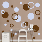 Brown & Light Blue Polka Dots Wall Decal
