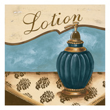 Bath Accessories IV - Blue Lotion Premium Giclee Print by Gregory Gorham