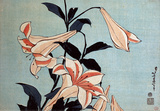 Trumpet Lilies Wall Decal by Katsushika Hokusai