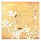 Song Birds VI - Yellow Giclée-Druck von Amy Melious