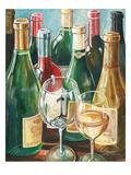 Wine Reflections II - Bottles and Glasses Reproduction procédé giclée par Gregory Gorham