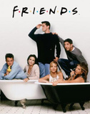 Friends (Group, Bathtubs) TV Poster Print Poster