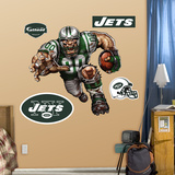New York Jets Die Cut RB Liquid Blue Wall Decal
