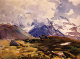 The Simplon Wall Decal by Singer Sargent