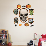 Halloween Monsters Wall Decal