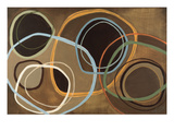 14 Friday II - Brown Circle Abstract Giclee Print by Jeni Lee