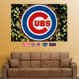 Chicago Cubs Ivy Logo Mural wandtattoos