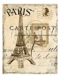 Paris Collage I - Eiffel Tower Premium Giclee Print by Gregory Gorham