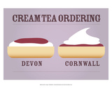 Cream Tea Ordering - Devon and Cornwall Poster von Stephen Wildish