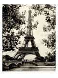 Eiffel Tower II - black and white Giclee-tryk i høj kvalitet af Amy Melious