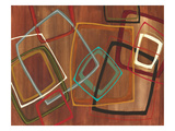 Twenty Tuesday II - Brown Square Abstract Reproduction procédé giclée par Jeni Lee