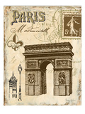 Paris Collage II  - Arc de Triomphe Giclee Print by Gregory Gorham