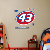 Richard Petty 43 Logo Jr. Wall Decal