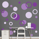 Purple Polka Dots Muursticker
