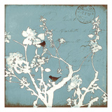 Song Birds IV - Blue Premium Giclee Print by Amy Melious