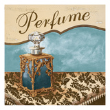 Bath Accessories III - Blue Perfume Giclee Print by Gregory Gorham