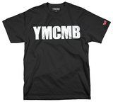 YMCMB - White Print on Black (Slim Fit) Maglietta