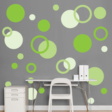 Green Polka Dots Wall Decal