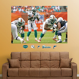 Miami Dolphins The Wildcat Mural Wall Decal