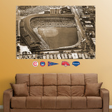 Chicago Cubs Wrigley Field Historical Aerial Stadium Mural Wall Decal