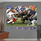 Giants-Patriots Line Mural Wall Decal