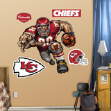 Kansas City Chiefs Die Cut RB Liquid Blue Wall Decal