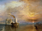 The Fighting Temeraire Wall Decal by J.M.W. Turner