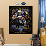 San Diego Chargers Liquid Blue Wall Decal