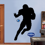 Football Player Silhouettes Wall Decal