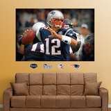Tom Brady Closeup Mural Wall Decal