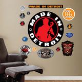 Made in Detroit Logo - Duvar Çıkartması