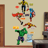 Classic Heroes Wall Decal