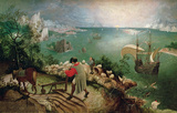 Landscape with the Fall of Icarus Wall Decal by Pieter Bruegel