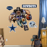 Dallas Cowboys Die Cut RB Liquid Blue Wall Decal