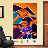 Larry Johnson Hornets Mural Wall Decal