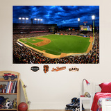 San Francisco Giants AT&T Park Sky Mural Wall Decal