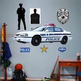 Police Car - Duvar Çıkartması
