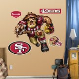 San Francisco 53ers Die Cut RB Liquid Blue Wall Decal