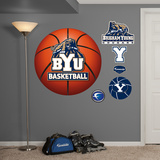 BYU Basketball Logo   Wall Decal