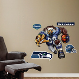Seattle Seahawks Die Cut RB Liquid Blue Wall Decal