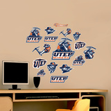 UTEP Logo Sheet Jr. Wall Decal
