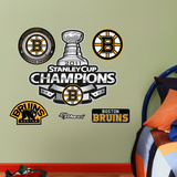 Bruins Stanley Cup Logo Wall Decal
